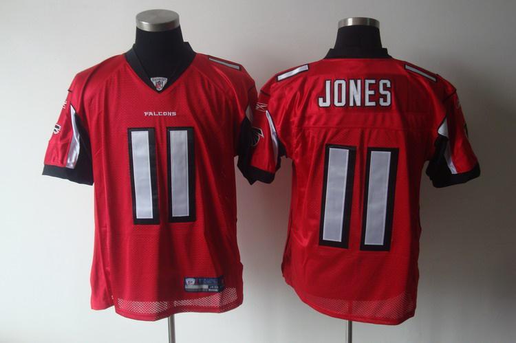 Falcons 11 Jones red Jerseys
