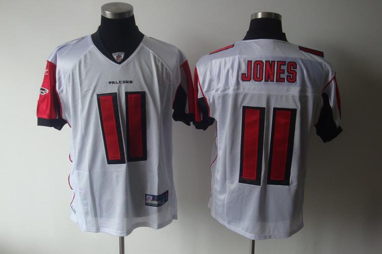 Falcons 11 Jones white Jerseys