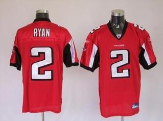 Falcons 2 Matt Ryan Red Jerseys