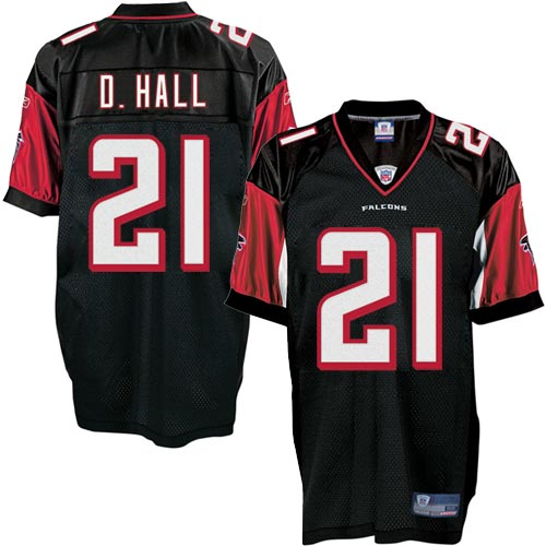 Falcons 21 D.HALL Black Jerseys