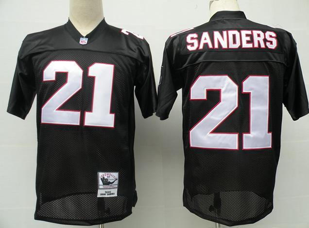 Falcons 21 Sanders black Jerseys