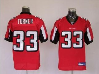 Falcons 33 Michael Turner Red Jerseys