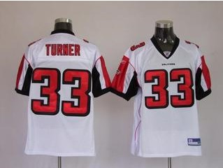 Falcons 33 Michael Turner White Jerseys