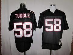 Falcons 58 Tuggle black m&n Jerseys