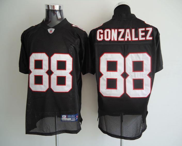 Falcons 88 Gonzalez black Jerseys