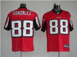 Falcons 88 Tony Gonzalez Red Jerseys