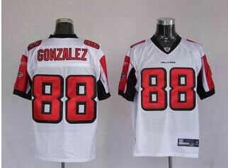 Falcons 88 Tony Gonzalez White Jerseys