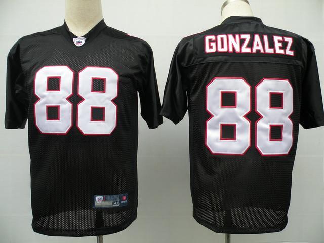 Falcons 88 Tony Gonzalez black Jerseys