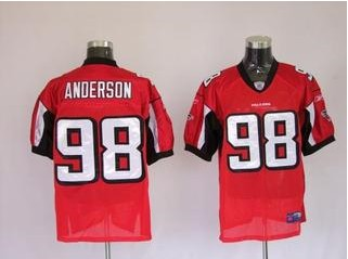 Falcons 98 Jamaal Anderson Red Jerseys