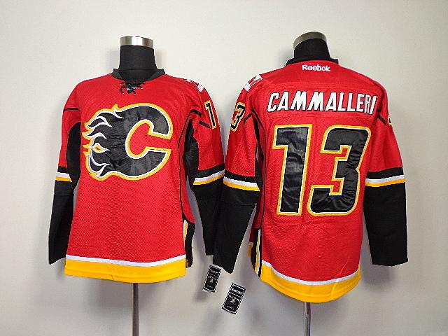 Flames 13 Cammalleri Red Jerseys