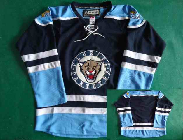 Florida Panthers Navy Blank Jerseys