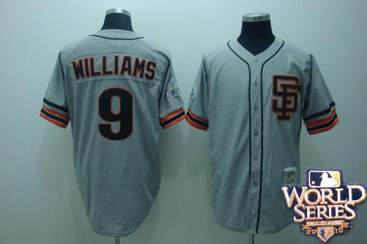 Giants 9 williams grey world series jerseys