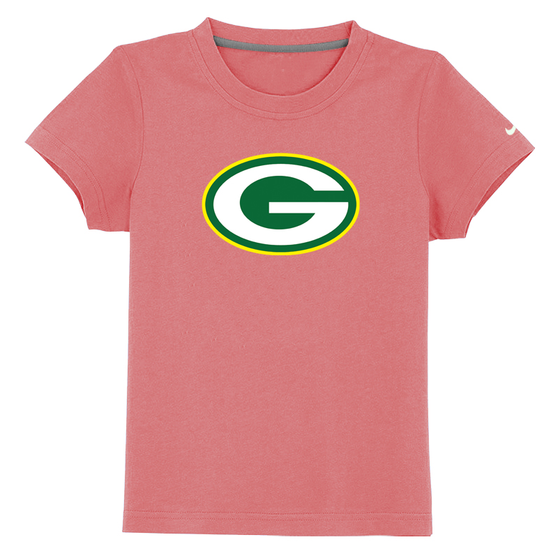 Green Bay Packers Sideline Legend Authentic Logo Youth T-Shirt Pink