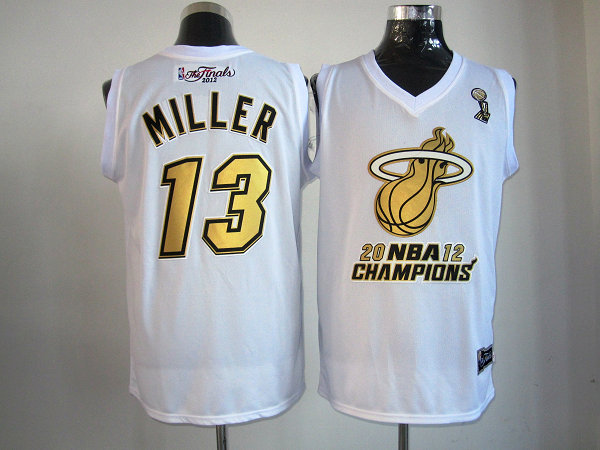 Heat 13 Miller White Champions Jerseys