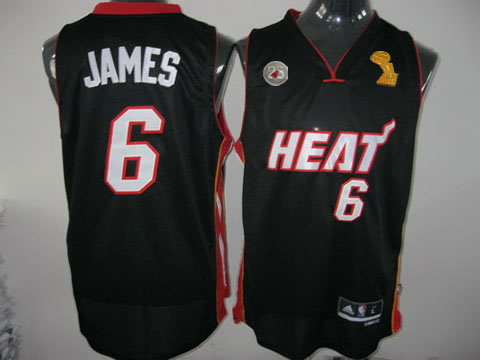 Heat 6 James Black 2013 Champion&25th Patch Jerseys