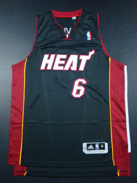 Heat 6 James Black AAA Jerseys