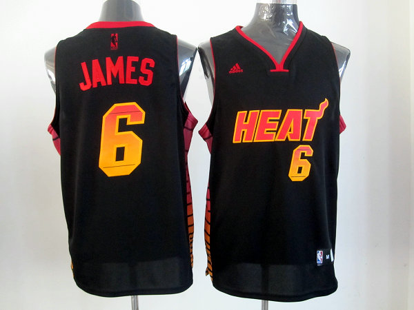 Heat 6 James Black Colorful Edition Jerseys