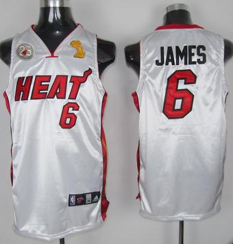 Heat 6 James White 2013 Champion&25th Patch Jerseys