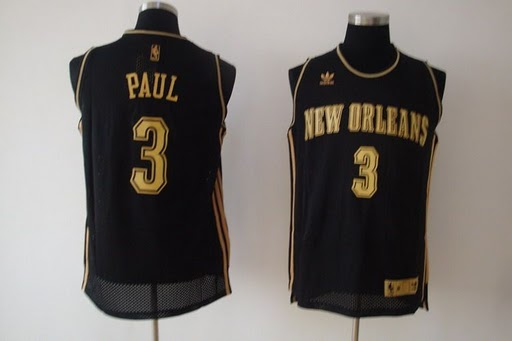 Hornets 3 Chris Paul Black Jerseys