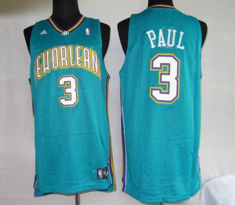 Hornets 3 Chris Paul Blue Jerseys