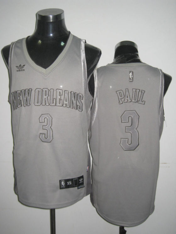 Hornets 3 Chris Paul Grey Jerseys