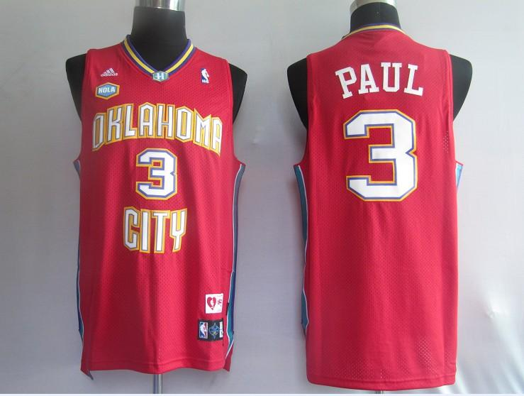 Hornets 3 Chris Paul Red Jerseys