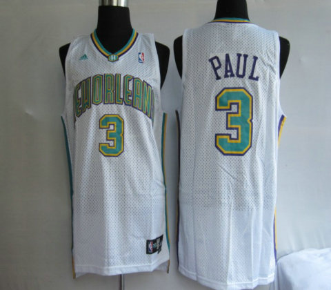 Hornets 3 Chris Paul White Jerseys