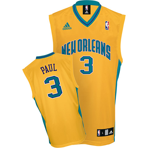 Hornets 3 Chris Paul Yellow Jerseys