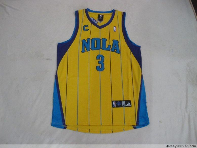 Hornets 3 Paul Yellow C Patch Jerseys