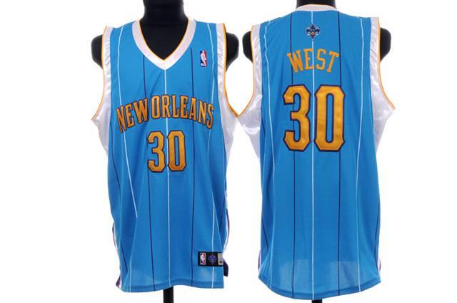 Hornets 30 West Blue Jerseys