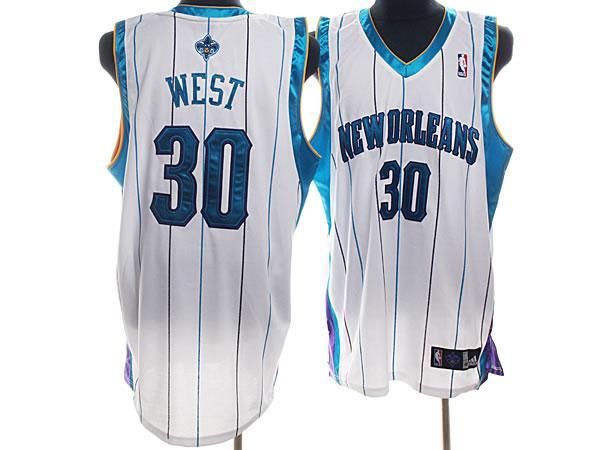 Hornets 30 West White Jerseys