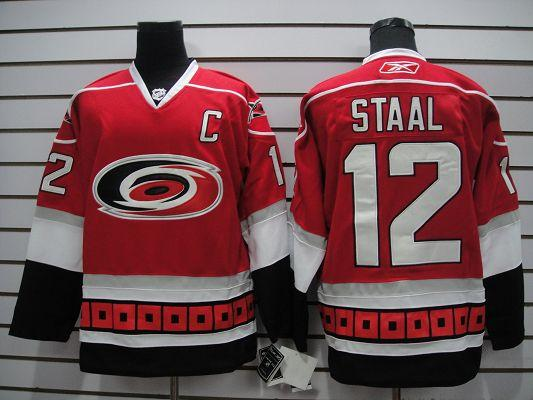 Hurricanes 12 Staal red Jerseys