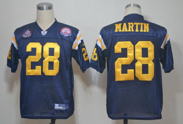 Jets 28 Martin Blue 2012 Hall of Fame Jerseys