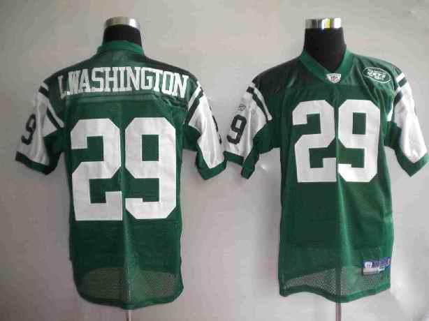 Jets 29 Leon Washington Green Jersey