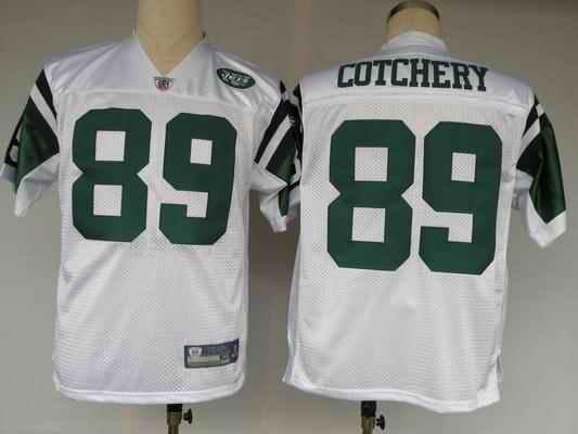 Jets 89 Jerricho Cotchery white Jerseys