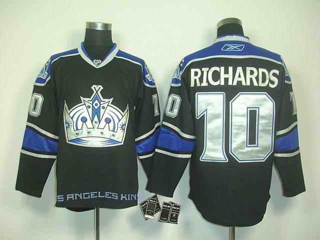 Kings 10 Richards Black Purple Jerseys