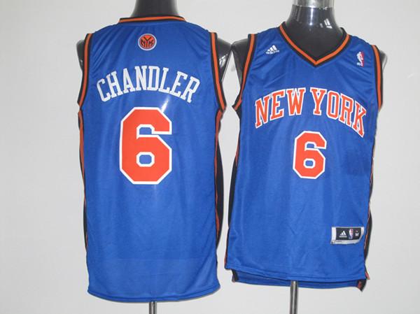 Knicks 6 Chandler Blue Jersey