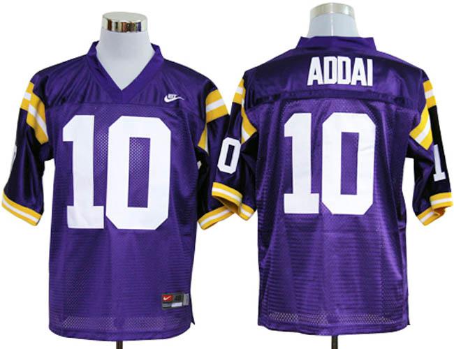 LSU Tiger 10 Addai Purple Jerseys