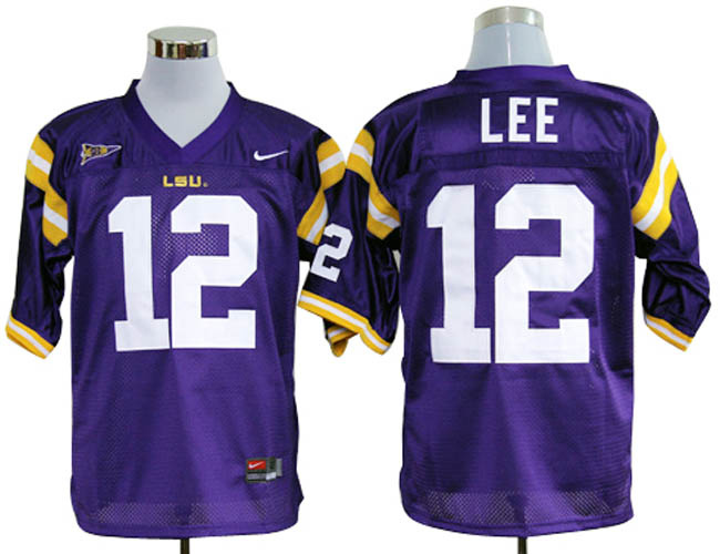 LSU Tiger 12 Lee Purple Jerseys