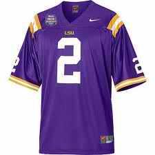 LSU Tigers 2 Randle purple Jerseys