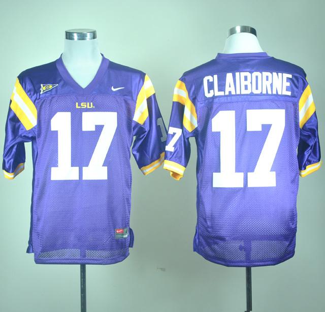 LSU Tigers Claiborne 17 Purple Jerseys