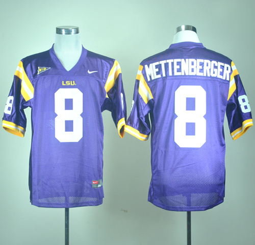 LSU Tigers Mattenberger 8 Purple Jerseys