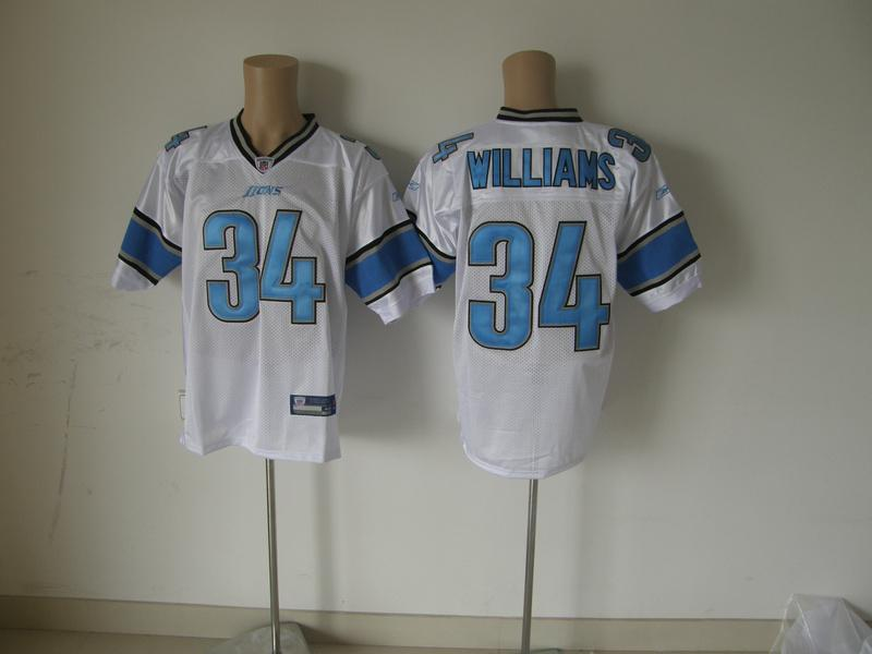Lions 34 Williams white Jerseys