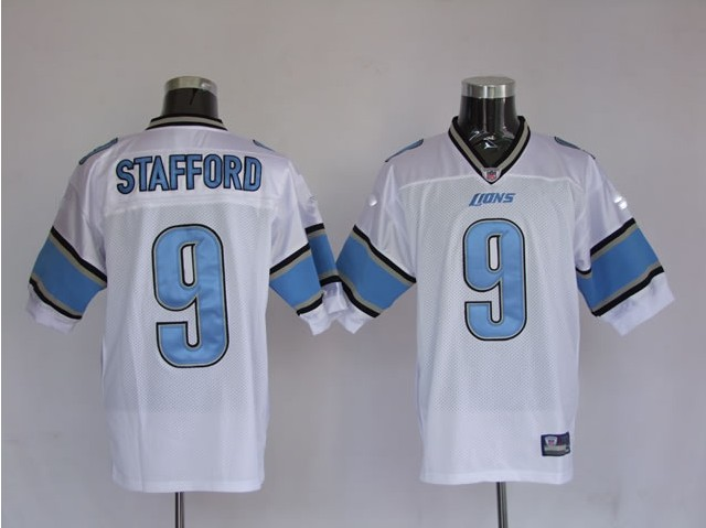 Lions 9 Stafford White Jerseys