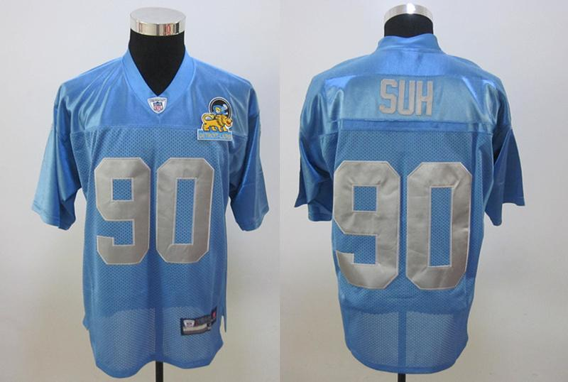 Lions 90 Suh blue new Jerseys