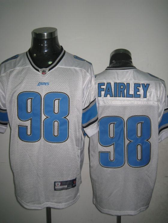 Lions 98 Fairley white Jerseys