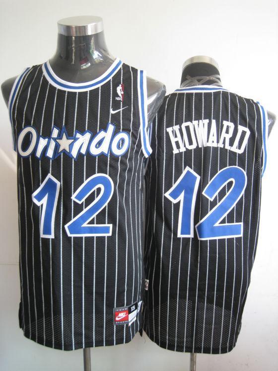 Magic 12 Dwight Howard Black Jerseys