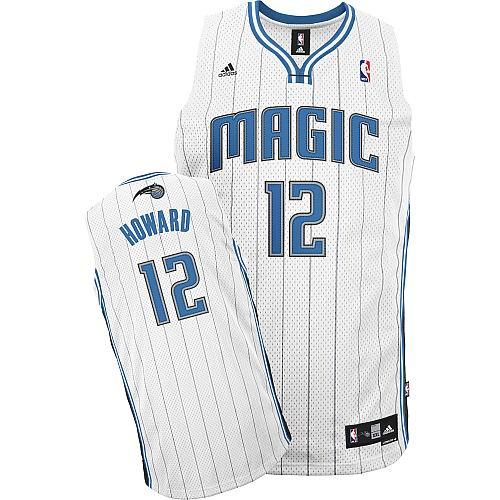 Magic 12 Dwight Howard White Jerseys