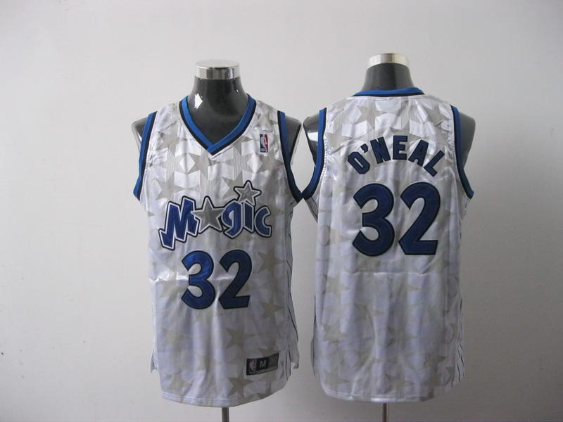 Magic 32 O Neal White Throwback Jersey