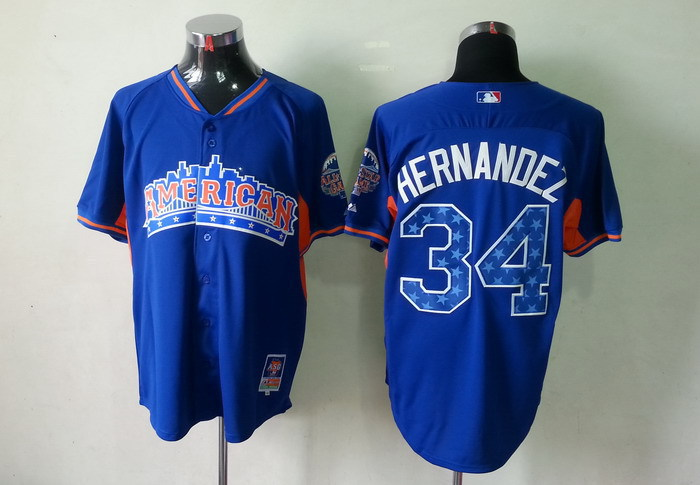 Mariners 34 Hernandez blue 2013 All Star Jerseys